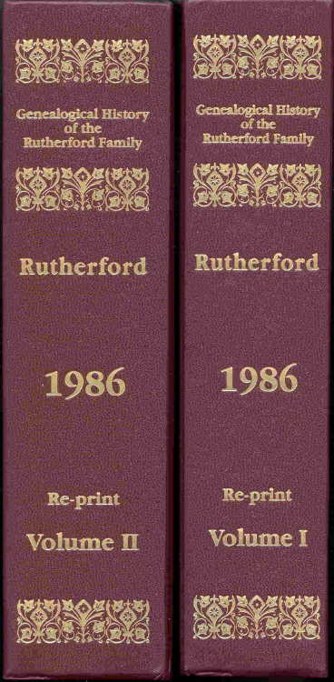 Genealogical History of the Rutherford Family Books